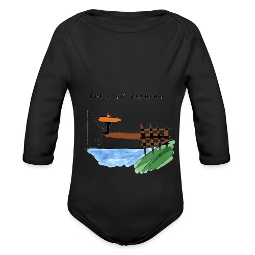 Let's go fishing - Organic Longsleeve Baby Bodysuit