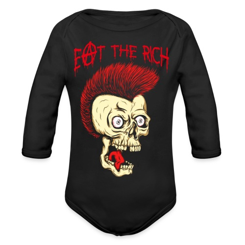 Eat The Rich (For Dark Shirts) - Baby Bio-Langarm-Body