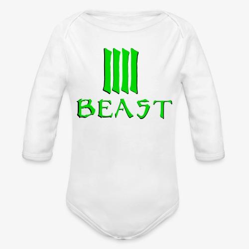 Beast Green - Organic Longsleeve Baby Bodysuit