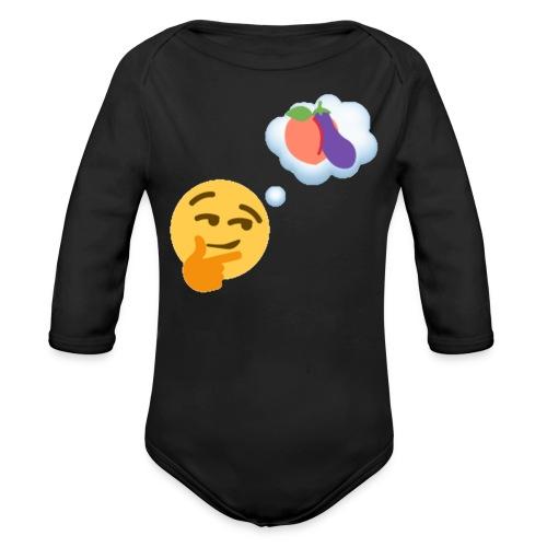 Johtaja98 Emoji - Vauvan pitkähihainen luomu-body