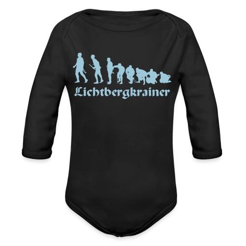 Krainolution-Schwarz - Baby Bio-Langarm-Body