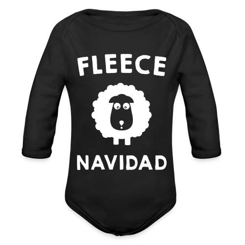 Foute Kersttrui Fleece Navidad 2016 - Baby bio-rompertje met lange mouwen