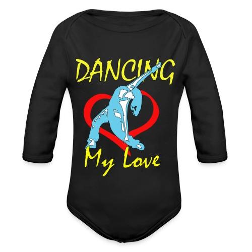 Dancing my Love HBlau - Baby Bio-Langarm-Body