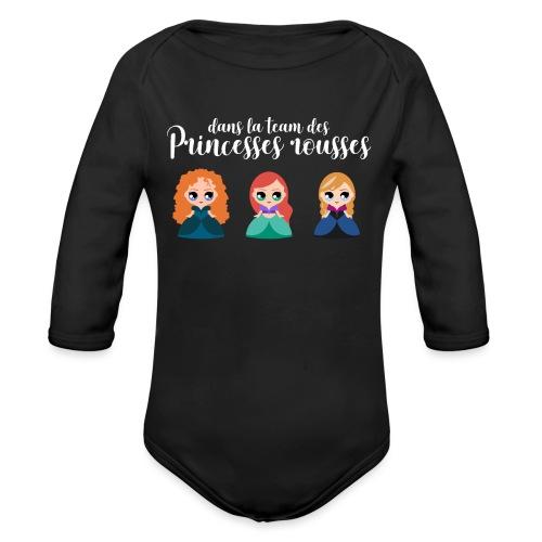 Team princesses rousses - Body Bébé bio manches longues