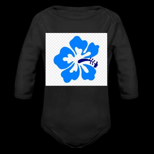 hawaiian flower - Organic Longsleeve Baby Bodysuit