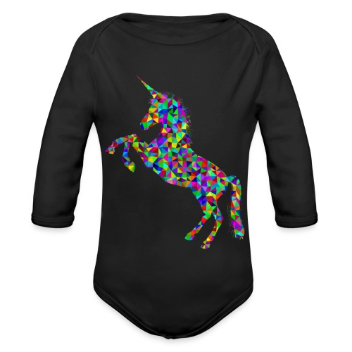 unicorn - Baby Bio-Langarm-Body