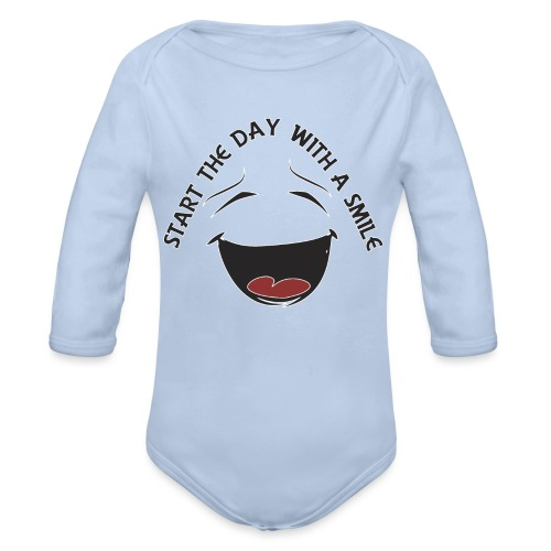 Zacznij dzień z uśmiechem - Ekologiczne body niemowlęce z długim rękawem
