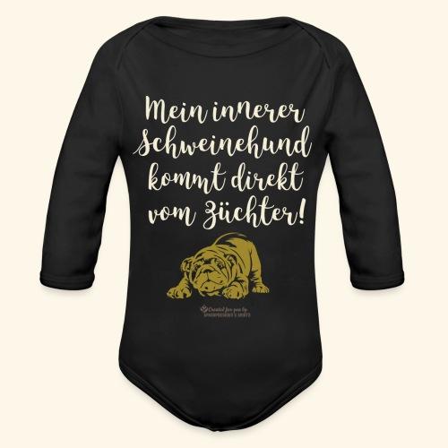 Innerer Schweinehund vom Züchter | Geek T-Shirts - Baby Bio-Langarm-Body