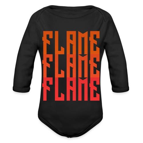maglietta_flame_flame_flame - Body ecologico per neonato a manica lunga