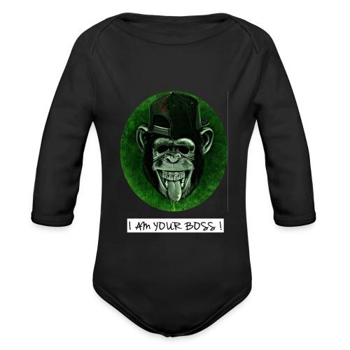 I AM YOUR BOSS ! - Body ecologico per neonato a manica lunga