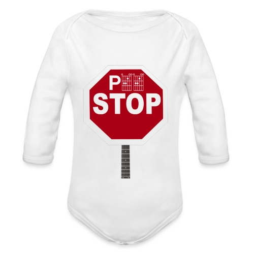 Pee Stop for Concert Goers! - Organic Longsleeve Baby Bodysuit
