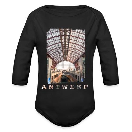 ANTWERP CENTRAL STATION - Baby bio-rompertje met lange mouwen