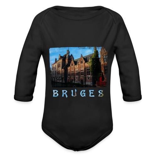 Bruges | Old houses - Baby bio-rompertje met lange mouwen