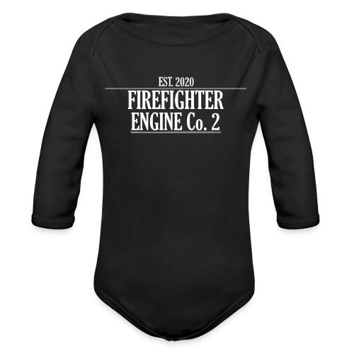 Firefighter ENGINE Co 2 - Langærmet babybody, økologisk bomuld