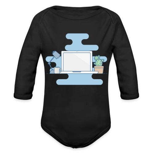Arbeitstisch - Baby Bio-Langarm-Body