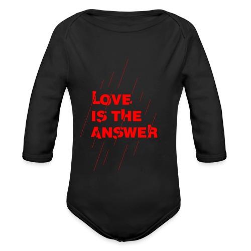 Love is the answer - Body ecologico per neonato a manica lunga