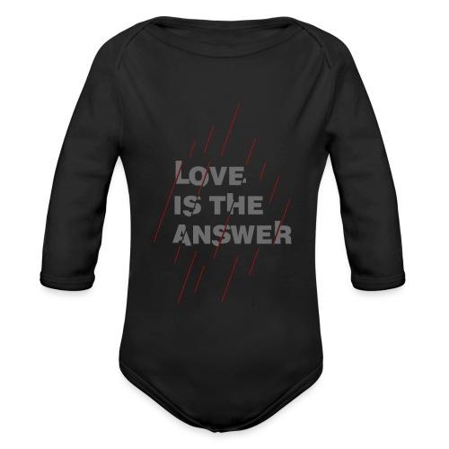 LOVE IS THE ANSWER 2 - Body ecologico per neonato a manica lunga