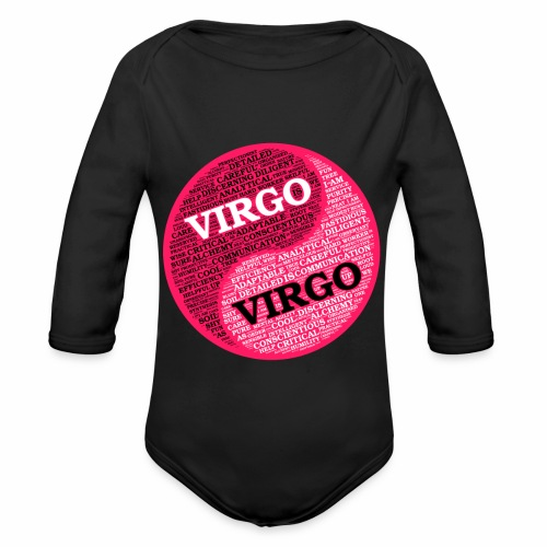 Virgo and Virgo Zodiac Sign Woman Love Mug - Organic Longsleeve Baby Bodysuit