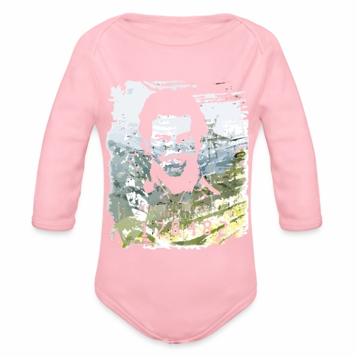 Pablo Escobar distressed - Baby Bio-Langarm-Body