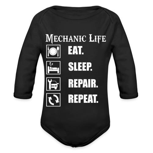 Das Leben als Mechaniker ist hart! Witziges Design - Baby Bio-Langarm-Body