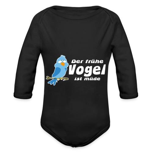 Der frühe Vogel ist müde - Baby Bio-Langarm-Body