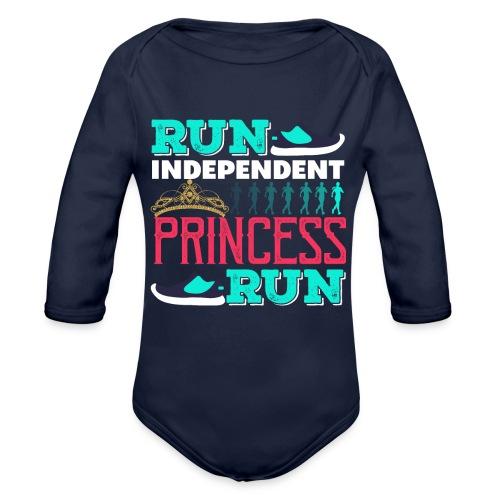 RUN INDEPENDENT PRINCESS RUN - Baby Bio-Langarm-Body