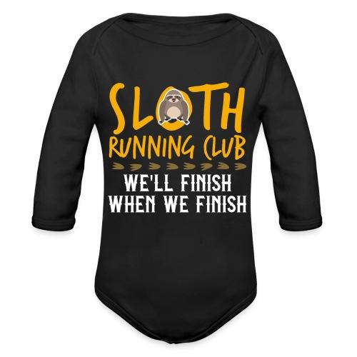 SLOTH RUNNING CLUB - Baby Bio-Langarm-Body