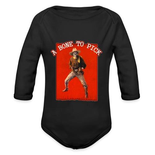 Vintage Skeleton Outlaw Cowboy - Organic Longsleeve Baby Bodysuit