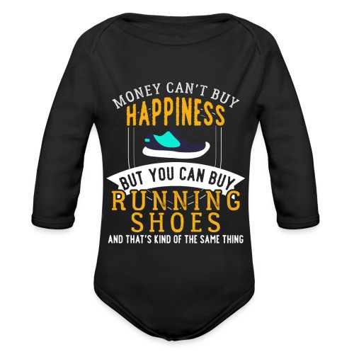 Running Means Happiness - Baby Bio-Langarm-Body