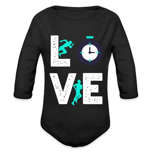 Love Running | Runner Hobby Sports - Baby Bio-Langarm-Body