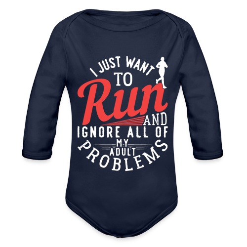 I Just Want To Run | Marathon - Baby Bio-Langarm-Body