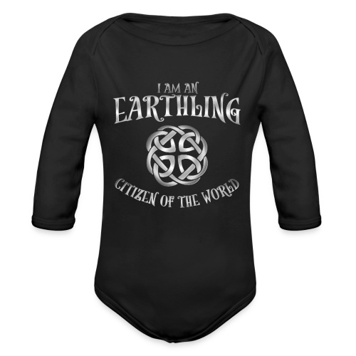 EARTHLING SILVER design - Ekologisk långärmad babybody