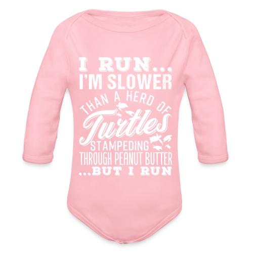 Run Turtles As Fast As We Can - Baby Bio-Langarm-Body