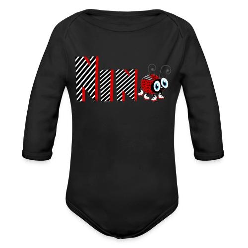 9. Jahr-Familien-Marienkäfer-T-Shirts Geschenk-Tochter - Baby Bio-Langarm-Body