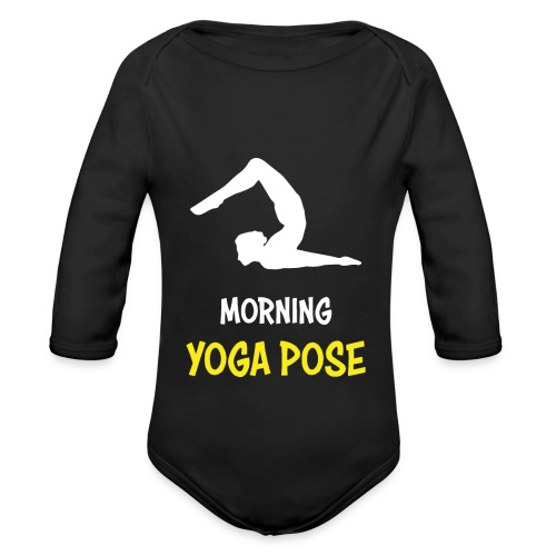 Morgentliche Yoga Pose Hingefallen Yoga Geschenk - Baby Bio-Langarm-Body