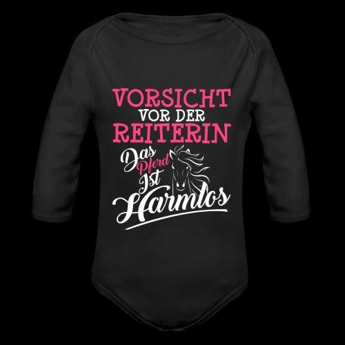 VORSICHT VOR DER REITERIN DAS PFERD IST HARMLOS - Baby Bio-Langarm-Body