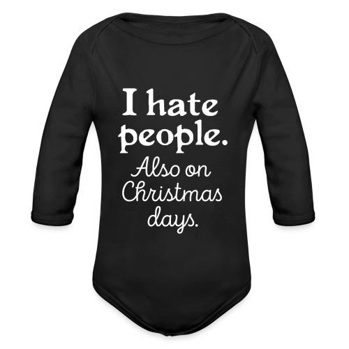 Winter Menschen Weihnachten Spruch Lustig Ugly - Baby Bio-Langarm-Body