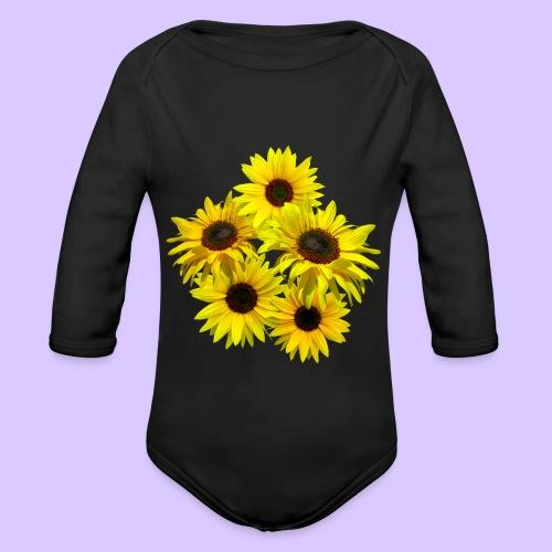 Sonnenblumenstrauss, Sonnenblume, Sonnenblumen - Baby Bio-Langarm-Body