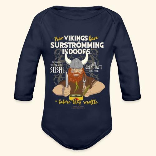 Surströmming Viking Sushi Indoors - Baby Bio-Langarm-Body