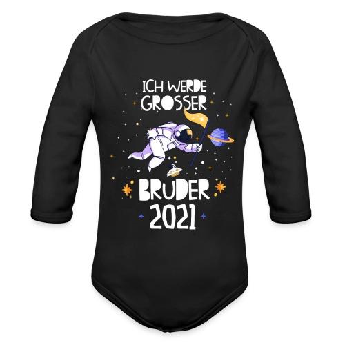 Großer Bruder 2021 Astronauten Astronaut Planeten - Baby Bio-Langarm-Body