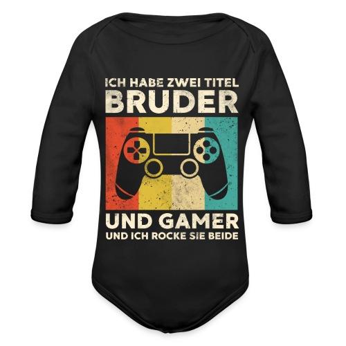 Bruder Gamer Gaming Junge Geschenk Sohn - Baby Bio-Langarm-Body