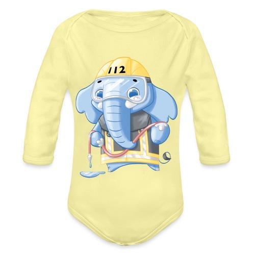 Feuerwehr Elefant - Baby Bio-Langarm-Body