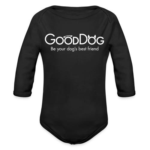 GoodDogBF4x-black - Organic Longsleeve Baby Bodysuit