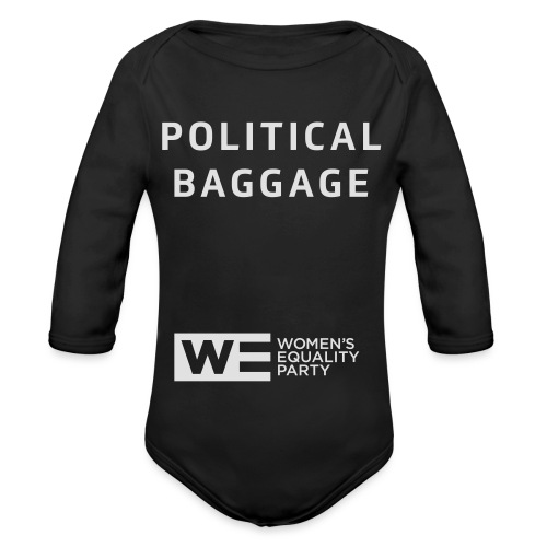 Political Baggage - Organic Longsleeve Baby Bodysuit