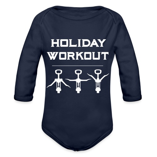 Holiday Workout - Urlaubs Übungen - Organic Longsleeve Baby Bodysuit