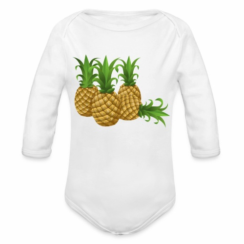 Ananas - Baby Bio-Langarm-Body