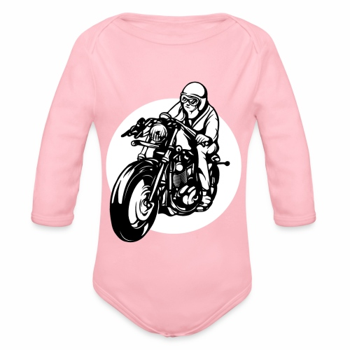 Motorradfahrer - Organic Longsleeve Baby Bodysuit