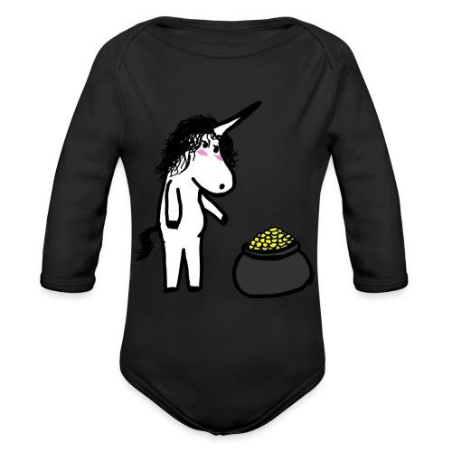 Oro unicorno - Body ecologico per neonato a manica lunga