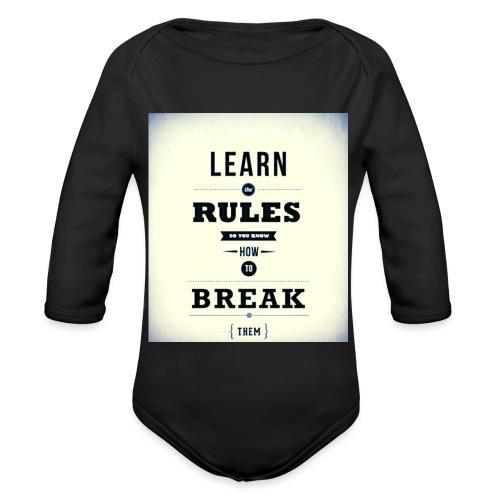 RULES - Baby bio-rompertje met lange mouwen