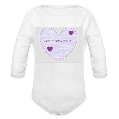Little_miss_cutie_4 - Baby bio-rompertje met lange mouwen